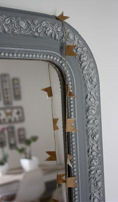 Miroir ancien pour salle de bain