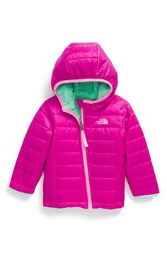 The North Face 'Mossbud Swirl' Reversible Water Repellent Jacket (Baby Girls) available at #Nordstrom