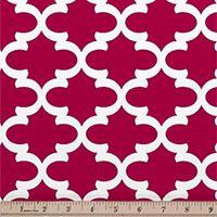 Quatrefoil Fabric Fulton Deep Pink made by Premier Prints Inc