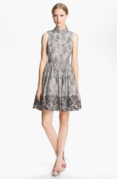 Alice + Olivia Paisley Print Flared Dress available at #Nordstrom