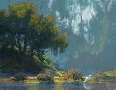 The Fisherman by Kim Lordier Pastel ~ 14 x 18