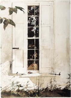 Andrew Wyeth (1917-2009) [The pikes] De rijven, 1965. Aquarel op papier, 71.12 x 48.26 cm. San Diego Museum of Art.