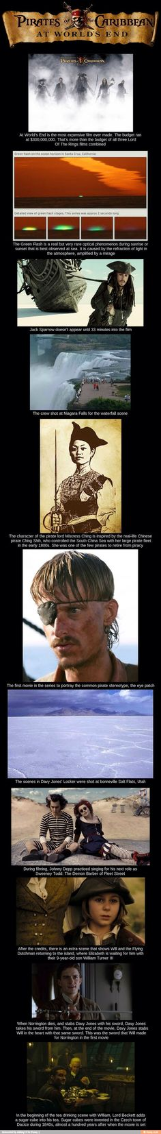 Pirates of the Caribbean. At World's End facts.
