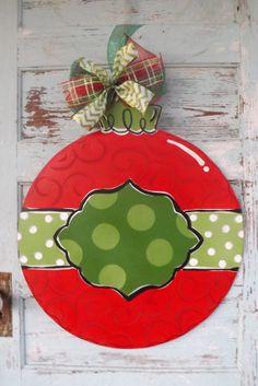 Ornament door hanger Christmas Ornament Door by BluePickleDesigns, $45.00