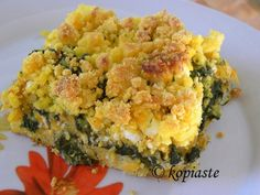Savory Corn Crumble with Butternut Squash and Spinach #casserole #side #comfortfood
