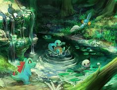Water starters from the first five generations