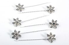 These sparkling silver come as a set of six, they are great for slotting into various hairstyles to complete a look! There is no reason not to have a tiara at the front and pins at the back! Bridesmaid Accessories, Bridal Accessories, Crystal Flower, Hair Pins, Bridal Hair, Sparkle, Crystals, Hair Styles, Flowers