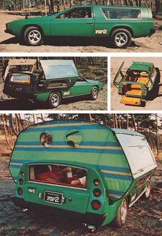 Ultracool - der Toyota RV-2 Prototyp wurde 1972 auf der Tokyo Motor Show vorgestellt. Die Basis dieses bizarren 4-Personen-Camper Concept F...