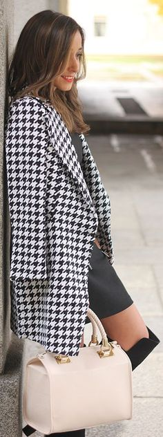 #Houndstooth #Coat by Be Sugar And Spice