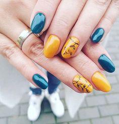 Manicure autumn nail art Paint Designs, Nail Art Designs, Nail Paints, Autumn Nails, Easy Nail Art, Manicure, Simple, Nail Bar, Nails