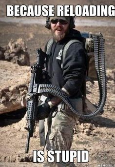 Gun humor - funny gun pics - pictures - military humor - weapons of mass destruction :) Survival, Fire Powers, Military Humor, Army Humor, Army Memes, Cool Guns, Big Guns, Guns And Ammo, Weapons Guns