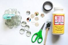 """I'm kind of on a magnet kick right now. I found a bag of 30 of these glass gems at the Dollar Tree for, yes, $1.00. My 1"""" paper punch cut o..."""