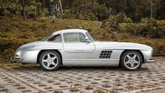 One-of-11 300SL Gullwing has been retromodded by AMG itself, complete with modern V8, yours for £600k