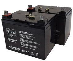 SPS Brand 12V 35AH battery for Lawn Mower Snapper Power Equipment LT 145H38 ( 2 Pack)
