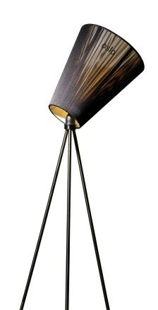Northern Lighting - Oslo Wood - Gulvlampe, sort