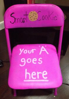 Academic motivation! If a sister gets an A on a test, quiz, or project she turns her name in for a raffle. During formal chapter a winner is drawn and she gets to sit in the 'smart cookie' chair for the rest of the meeting and wins a free box of cookies too!  ~Sorority Sugar