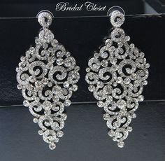 Bridal Crystal Earrings Bridal Earrings Crystal by BridalCloset, $35.00