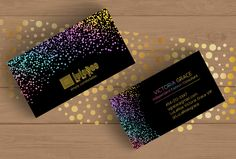 Lularoe Black Business Card PSD Free Custom No.22 Rainbow Confetti Lularoe Home Office Colors and Fonts by fudemori on Etsy