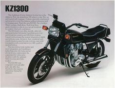 Kawasaki Brochure KZ1300 Z1300 KZ1300 A3 1981 Sales Catalog Catalogue