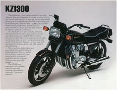 Kawasaki Brochure KZ1300 Z1300 KZ1300 A3 1981 Sales Catalog Catalogue