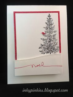 Clean simple Christmas card