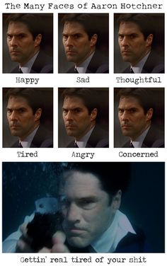 Oh Hotch is the most dull person on criminal minds but is stilled loved Criminal Minds Funny, Spencer Reid Criminal Minds, Criminal Minds Cast, Thomas Gibson, Behavioral Analysis Unit, Aaron Hotchner, Crimal Minds, Penelope Garcia, Derek Morgan