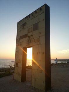 Porta d'europa a #lampedusa con fantastico tramonto.Settembre 2014