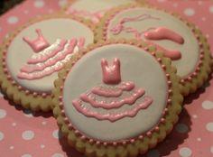 Sweet little ballet cookies