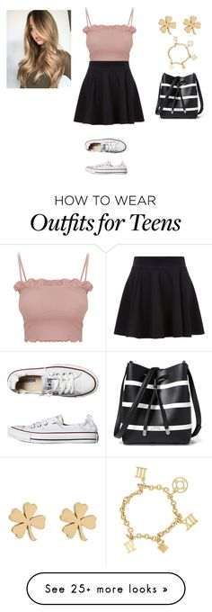 """Untitled #1829"" by malu-880 on Polyvore featuring Converse, Lauren Ralph Lauren and Jennifer Meyer Jewelry"