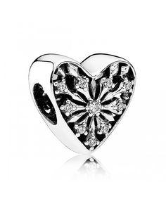 c47260c2f Pandora Heart Of Winter Clear Cz Charm Sale Pandora Charms Cheap, Pandora  Charms Clearance,