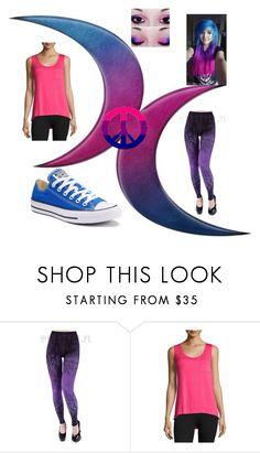"""""""BISEXUAL PRIDE"""" by trancy279 ❤ liked on Polyvore featuring Beyond Yoga and Converse"""