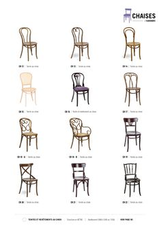 Chaises Thonet http://www.grock.fr/chaises.html