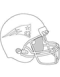 New England Patriots Helmet Coloring Page From NFL Category Select 25743 Printable Crafts Of