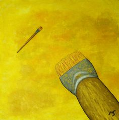 Brushes - oil on canvas