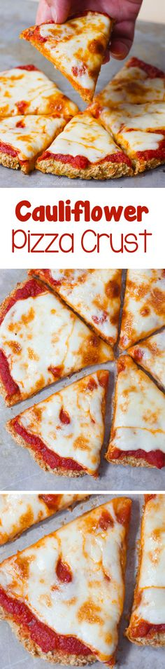 Cauliflower Pizza Crust - Ingredients: 1 cauliflower, 1/4 cup water, 1 tsp oregano, 2 tbsp... full cauliflower pizza crust recipe is on the blog