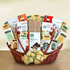 Starbucks Warm Up the Work Place   Bring the warmth and richness of Starbucks to the office with our naturally delicious Starbucks basket of goodies.