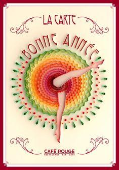 Typographic Art :: Quilling - Bonne Année  by Yulia Brodskaya (London, UK)