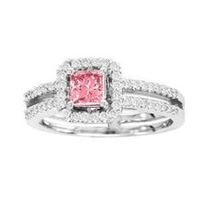 Enhanced Pink Diamond Ring