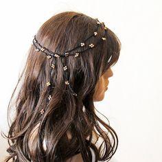 crochet  Headband  Headpiece beaded headband Hair band by selenayy #hairaccessories #hairband #headband