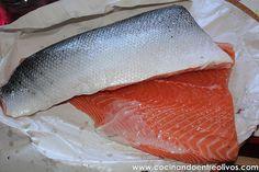 Salmon marinado www.cocinandoentreolivos (3) Tapas, Recipies, Fish, Salads, Marinated Salmon, Smoked Salmon, Beverage, Meals