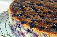 Blueberry Coffee Cake via Chocolate & Zucchini (a HUGE resource for amazing French recipes). This is perfect for a decadent brunch.