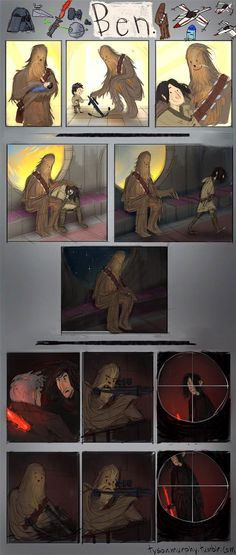 """There's a sub-plot of """"Star Wars: The Force Awakens"""" that has largely gone un-noticed until today. A new Chewbacca comic-strip tells a touching story"""