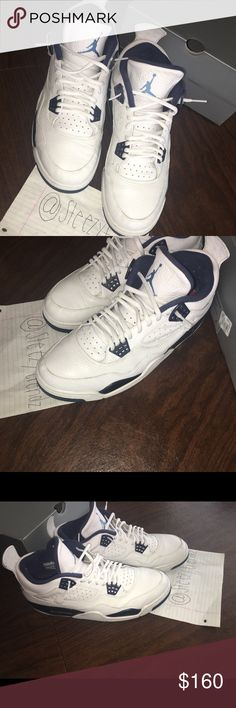 d10515818af4 Air Jordan Retro 4 Columbia In great condition comes with box price  negotiable Jordan Shoes Sneakers