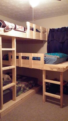 Triple Bunk Beds | Do It Yourself Home Projects from Ana White