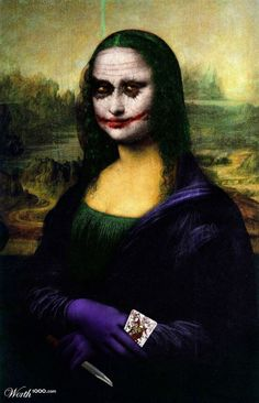 Versiones divertidas de La Mona Lisa: Joker