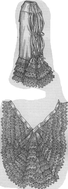 Petticoat with detachable train from The Young Ladies' Journal 1881