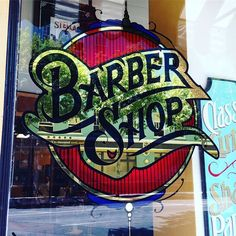 One of the nicest #barbershop signs I have yet to see. Done by @johndoziersigns…