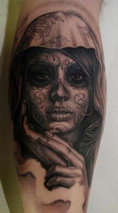 sugar skull Day of the Dead Tattoo
