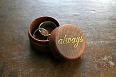 Wedding ring box.  Tiny ring box ring bearer by ClementineWeddings