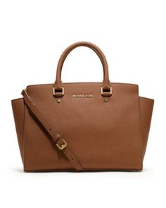 MICHAEL Michael Kors  Large Selma Top-Zip Satchel.